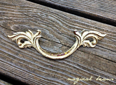 Vintage,Victorian,Style,Solid,Brass,with,Ivory,Overlay,Leafy,Drawer,Pull,ivory overlay, brass drawer pull, french provincial drawer pull, shabby cottage chic pulls, brass drawer pulls