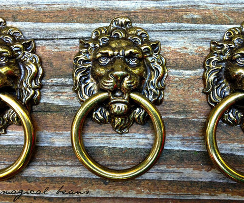 Vintage,Solid,Brass,Lion,Head,Ring,Pull,by,Keeler,Co.,extra large ring pull, small ring pull, antique drawer pulls, vintage drawer pulls, period hardware,decorative hardware, Keeler Brass Co, Kbc Pulls, KBC Period Hardware,  Drawer Pulls, Brass Pulls, Lion head Pulls, Lion Ring Pulls, ring drawer pulls,