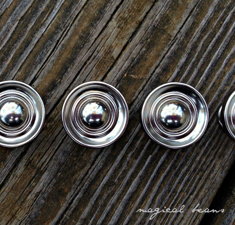 Small Decorative Polished Chrome Multi Ring Knobs - product images  of