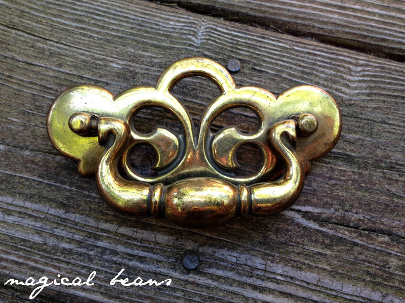 Chippendale Style Brass Drop Pull  - product images  of
