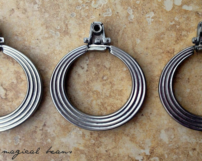 "Vintage Polished Chrome ""Door Knocker"" Style Round Pulls  - product images  of"