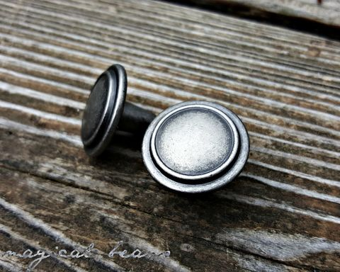 Weathered,Silver,Single,Ring,Furniture,-,Cabinet,Knobs,Industrial farmhouse knobs, industrial furniutre pulls, bathroom vanity knobs, kitchen cabinet knobs, Nickel Knobs, Rustic Drawer Pulls, Weathered Silver Knobs, Knobs & Pulls ,Cabinet Knobs ,Dresser Knobs ,Drawer Knobs, Furniture Hardware, Country Farmhou