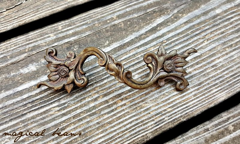 Dark Brass French Country Farmhouse Drawer Pulls  - product images  of