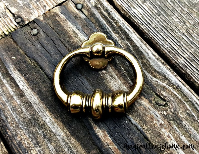 Vintage Keeler Brass Co Mid Century Chunky Polished Brass Ring Pull  - product images  of