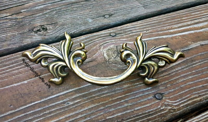 Vintage KBC Classic French Provincial Drawer Pulls in Solid Brass  - product images  of