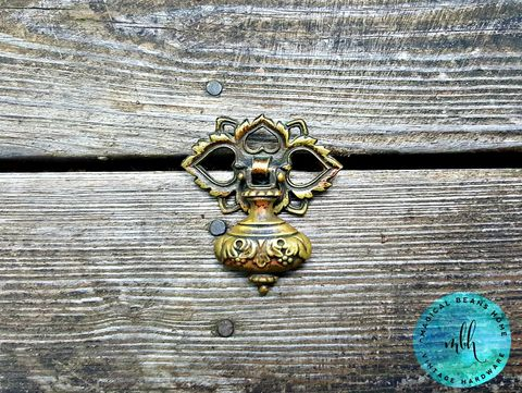 Vintage,Keeler,Brass,Co,Ornate,Bell,Tear,Drop,Pulls,in,Solid,vintage drawer pulls, pendant pulls, tear drop pulls, keeler brass co period hardware, vintage hardware, dresser hardware, drop pulls, bell drop pull, brass hardware, brass drawer pulls