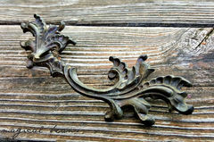 Vintage French Provincial Drawer Pulls in Dark Brass  - product images 4 of 10