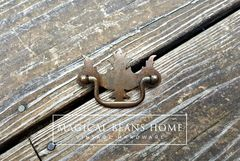 Vintage Rustic Federal Style Drawer Pull in Pressed Metal  - product images 1 of 5