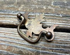 Vintage Rustic Federal Style Drawer Pull in Pressed Metal  - product images 2 of 5