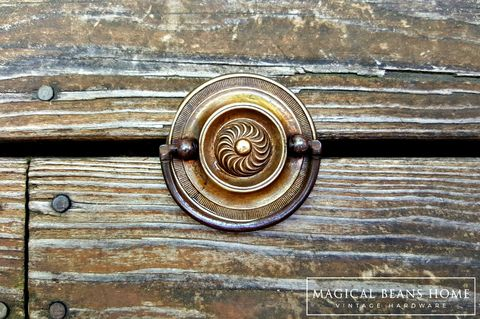 Vintage,Brass,Round,Hepplewhite,Drop,Pull,vintage drawer pull, hepplewhite drop pull, hepplewhite pull, vintage hepplewhite, round drawer pull, brass drawer pulls, brass drop pull, vintage bail pull, vintage dresser hardware, furniture hardware,