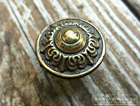 Weathered Brass Bin Cup Pull Magical Beans Home