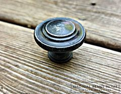 Weathered Black & Silver Rustic Industrial Farmhouse Knobs  - product images 2 of 4