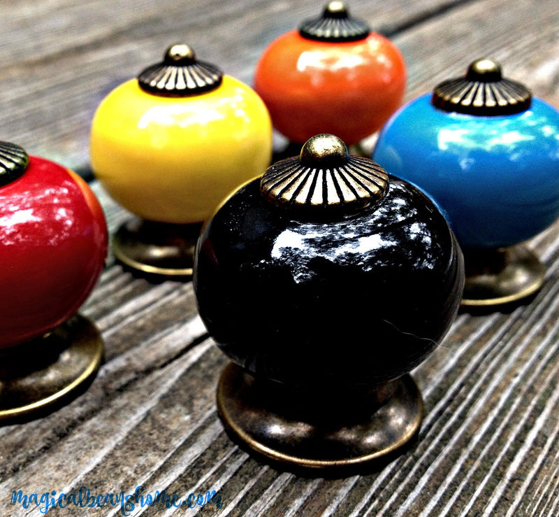 Decorative Ceramic Furniture Knobs in Multiple Colors - product images  of