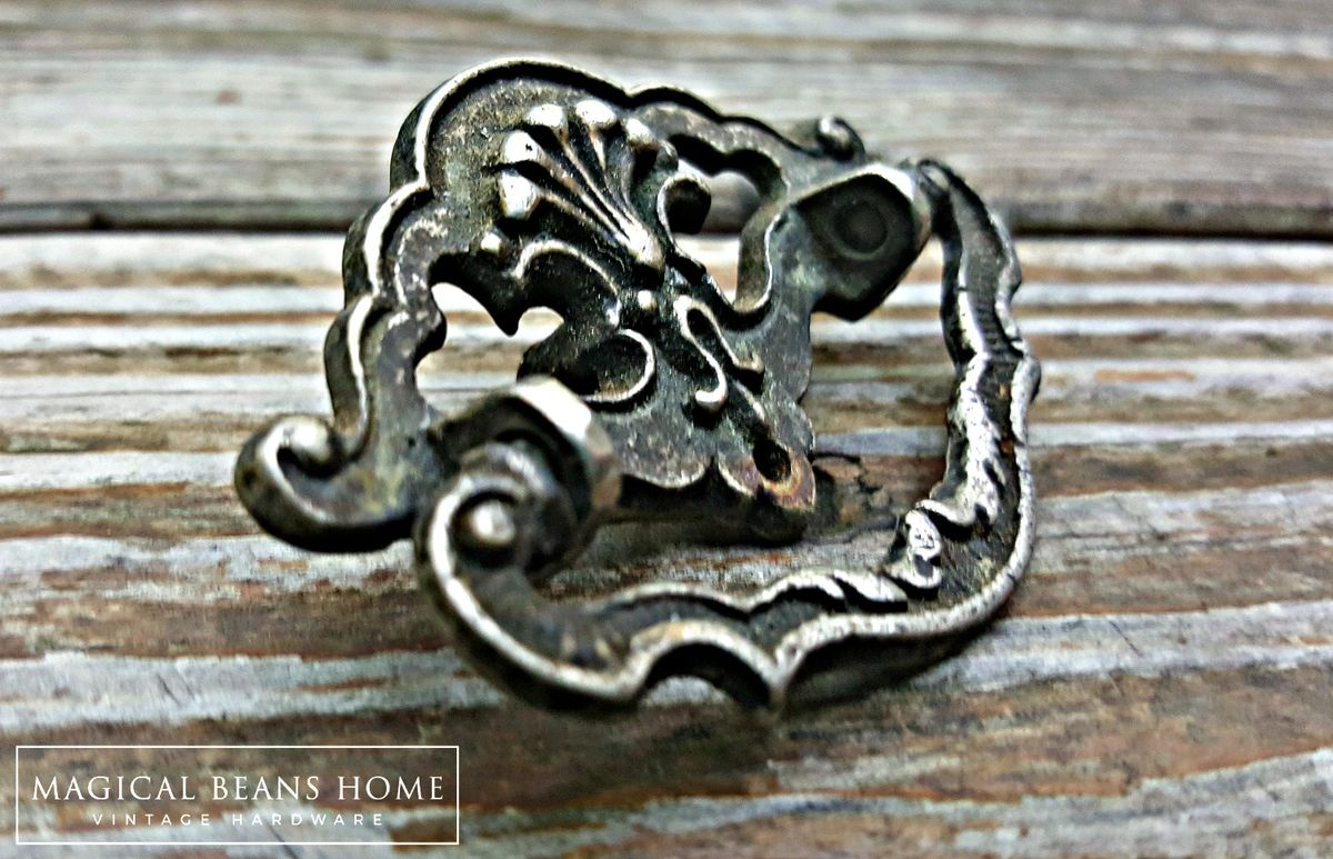 Vintage Antiqued Pewter Cottage Chic Bail Pulls  - product images  of