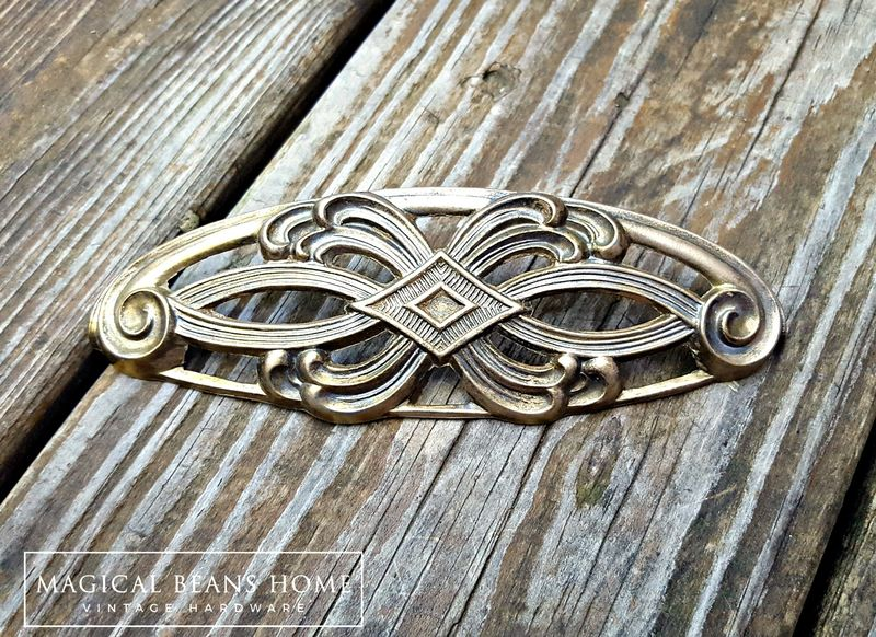 Vintage Keeler Brass Co Art Deco Brass Handle - product images  of