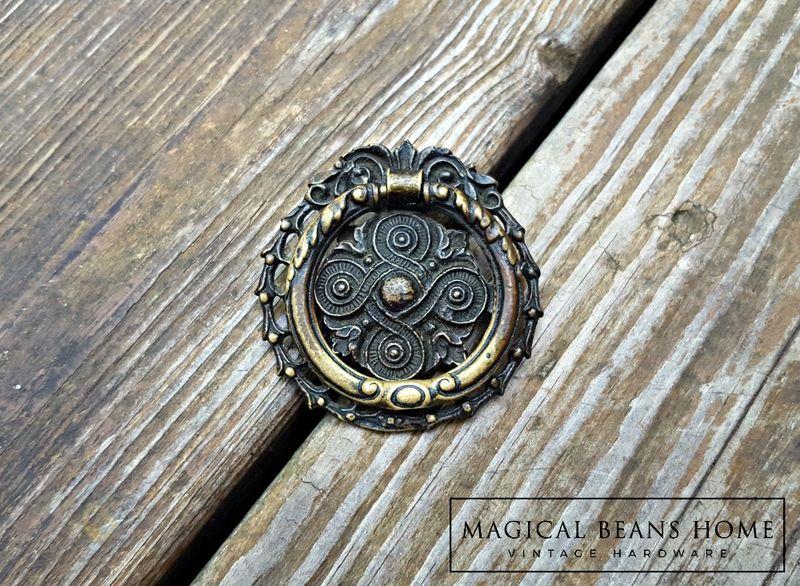 Vintage Keeler Br Co Celtic Knots Antiqued Round Pull Product Images Of