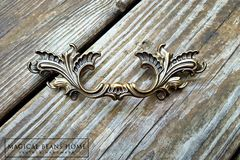 Vintage French Provincial Drawer Pulls in Dark Brass  - product images 7 of 10