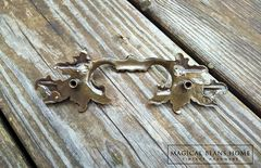 Vintage French Provincial Drawer Pulls in Dark Brass  - product images 10 of 10
