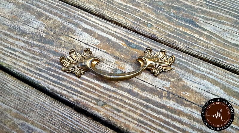 French Vintage Victorian Bronze Drawer Pulls  - product images  of