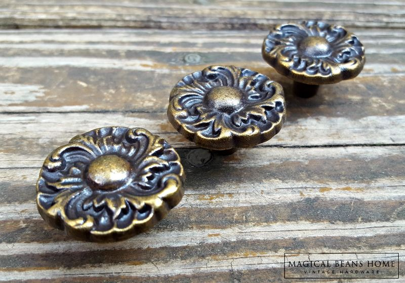 Hollywood Regency Knobs in Bronze & Brown - product images  of