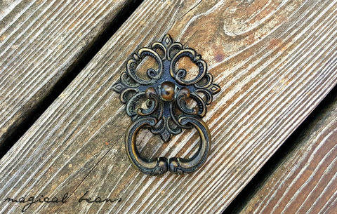 Vintage,2pc,Black,&,Gold,Baroque,Ring,Pull, Knobs & Pulls  ,Victorian Drawer Pulls,  Dresser Drawer Pulls ,French Country Dresser Hardware  ,Black and Gold Dresser Pulls,  Brass Drawer Pulls  ,Vintage Drawer Pulls , Cabinet Pulls  ,Rosette Drop Pulls ,Furniture hardware  ,Restoration Hardware  ,2