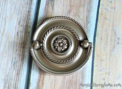 Round,Beaded,Multi-Ring,Hepplewhite,Drawer,Pull,in,Brushed,Silver,large round pull, round dresser pulls, beaded drop bail pull, beaded hepplewhite pull, multi ring drawer pull, silver drawer pull, silver hepplewhite pull, brushed nickel hardware, cabinet hardware, dresser hardware, antiqued silver pulls, drop bail pull