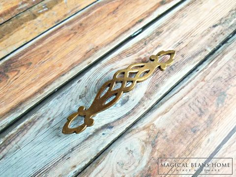 Vintage,Filigree,Brass,Drawer,Pull,by,Keeler,Co,Filigree Arched Drawer Pulls, Gold Drawer Pulls Handles ,Vintage Drawer Pulls ,Brass Drawer Pulls ,Keeler Brass Co Period Hardware, KBC Drawer Pulls,Gold Lattice Dresser Pulls ,Basket Weave ,Cabinet Hardware