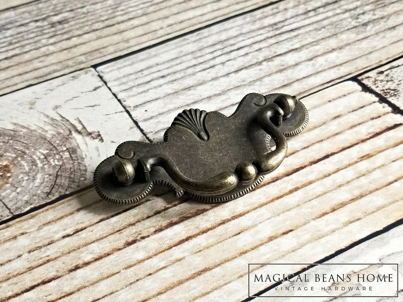 Vintage Antiqued Brass Chippendale Pulls by Keeler Brass Co - product images  of