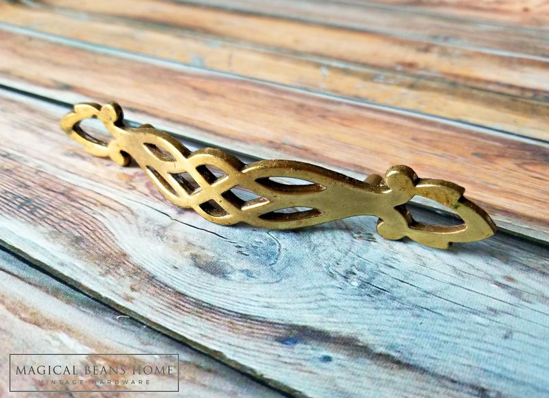 Vintage Filigree Brass Drawer Pull by Keeler Brass Co  - product images  of
