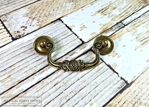 Vintage,KBC,Baroque,Antiqued,Gold,Drop,Bail,Pull,in,Solid,Brass,vintage hardware, furniture hardware ,antique hardware ,drawer pulls knobs, furniture pulls, pulls knobs, hardware furniture, vintage drawer pulls knobs, brass furniture hardware,  Brass Hardware, Brass Pulls, Brass Cabinet Pulls, Brass Drawer Pulls, Bras