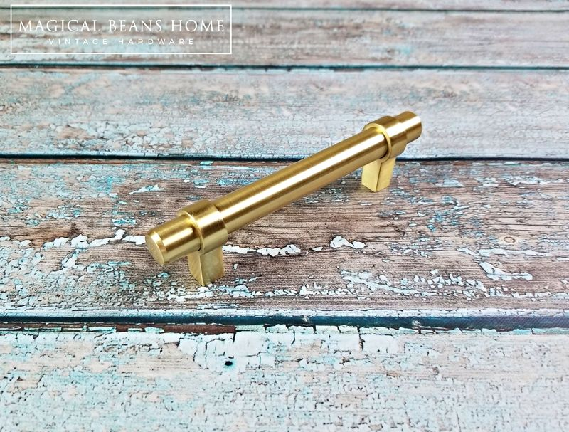 Decorative Brushed Gold Large T-Bar Drawer Pull Handle - product images  of