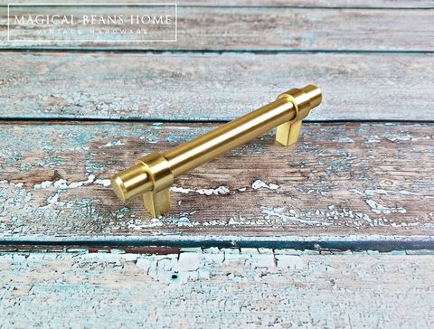 Decorative,Brushed,Gold,Large,T-Bar,Drawer,Pull,Handle,Dresser Hardware, Gold Cabinet Pulls, Euro Bar Pulls, Gold T Bar Pull ,Brushed Gold Drawer Pull, Gold Drawer Pull Handles ,Industrial Farmhouse Decor,Gold Dresser Pull
