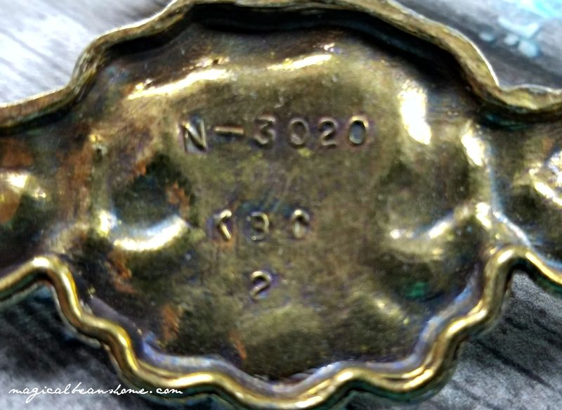 Vintage Keeler Brass Company Gold French Provincial Drawer Pull Handles in Solid Brass  - product images  of