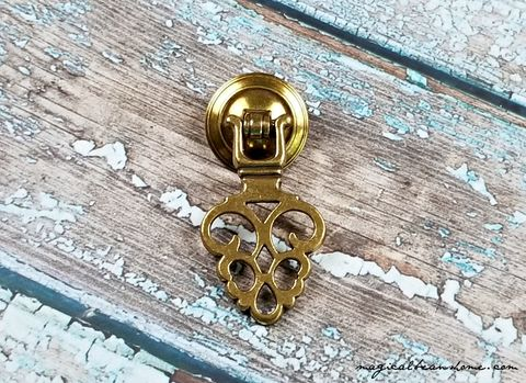 Vintage,,Keeler,Brass,Co.,Gold,Filigree,,Pendant,Pull,in,Solid,Keeler Brass Co Period Hardware, Gold Filigree Teardrop Pull ,Boho Dresser Pull, Gold Drawer Pull ,Vintage Drawer Pull ,KBC Pendant Pull ,Brass Drawer Pull