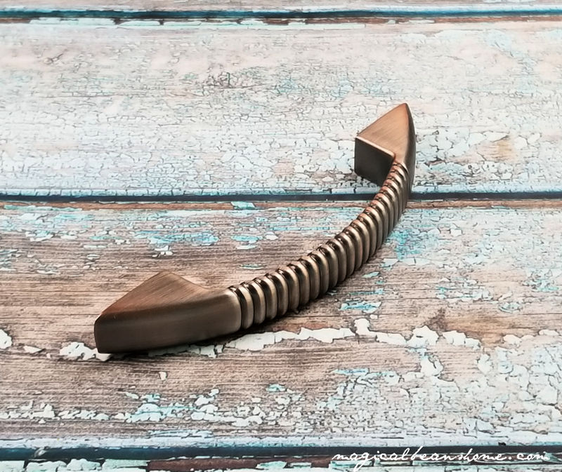 Weathered Copper Fluted Drawer Pull Handles - product images  of