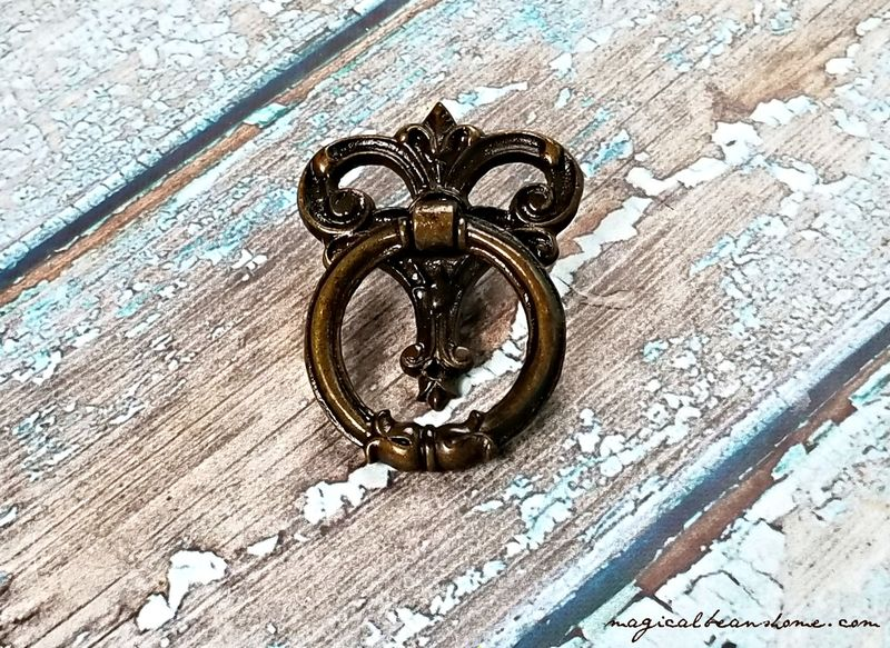 Vintage Keeler Brass Co Decorative Dark Brass Ring Pulls