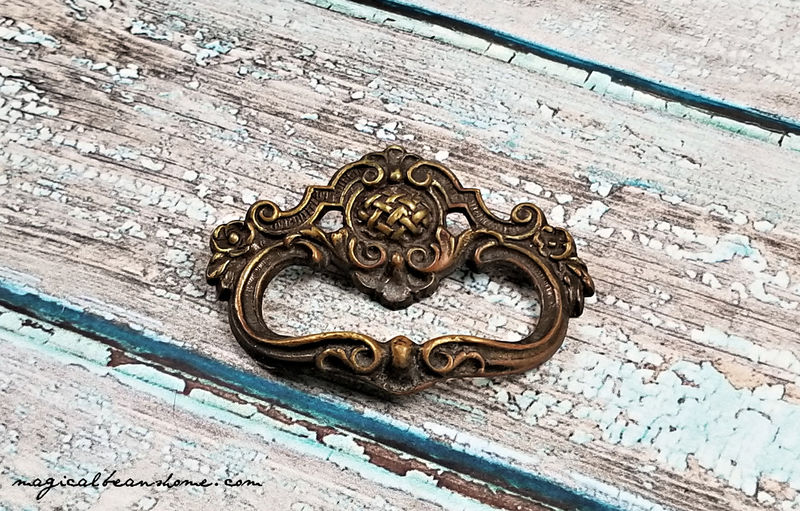 Vintage Keeler Brass Co Dark Brass Petite Ring Pull  - product images  of