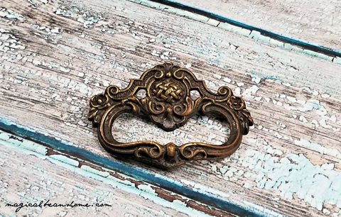 Vintage,Keeler,Brass,Co,Dark,Petite,Ring,Pull,Dark Brown Ring Pull, Keeler Brass Ring Pull ,Decorative Ring Pulls ,Vintage Drawer Pull ,Solid Brass Drawer Pull ,Baroque Ring Pull ,Antiqued Gold Dresser Drawer Ring Pull ,Petite Ring Pull