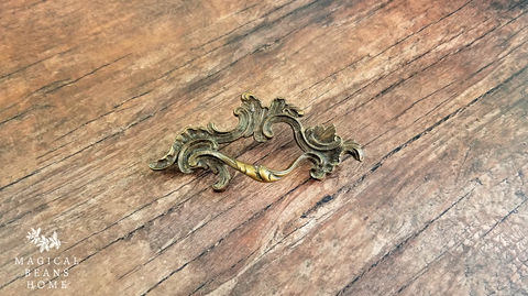 Vintage,Keeler,Brass,Co,Antiqued,Gold,French,Provincial,Drawer,Pull,Handles,in,Solid,Antiqued Gold Drawer Pull, French Provincial Dresser Pull, Vintage Drawer Pull Handles, Brass Drawer Pull, Dresser Hardware, French Cabinet Pulls