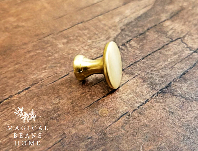 Decorative Brushed Gold Mushroom Cabinet Knobs - product images  of