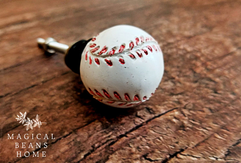 Decorative Sports Themed Furniture Knobs- Football, Basketball, Baseball & Soccer  - product images  of