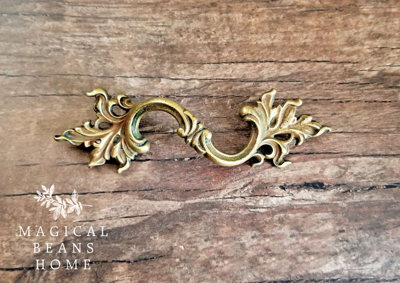 KBC French Provincial, Farmhouse Chic, Curvy Brass, Dresser Pulls  - product images  of