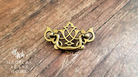 Vintage,KBC,Brass,Lattice,Chippendale,Dresser,Pulls,lattice dresser pulls, kbc drawer pulls, period hardware, vintage drawer pulls, vintage hardware, chippendale drawer pulls, dresser hardware, gold drawer pulls, antiqued brass drawer pulls, dresser drawer pulls