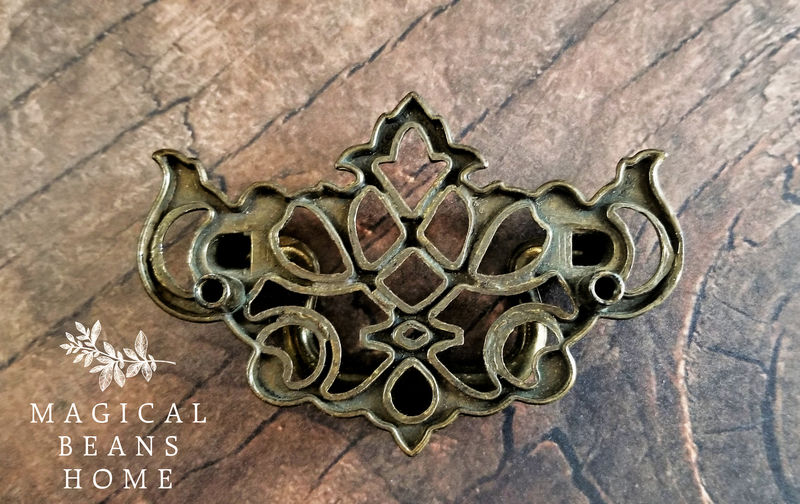 Vintage KBC Brass Lattice Chippendale Dresser Pulls  - product images  of