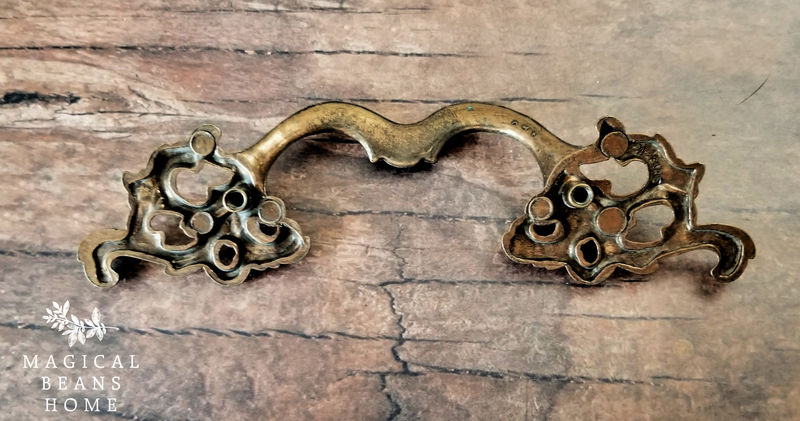French Vintage Drawer Pulls by Keeler Brass Company in Antiqued Brass  - product images  of