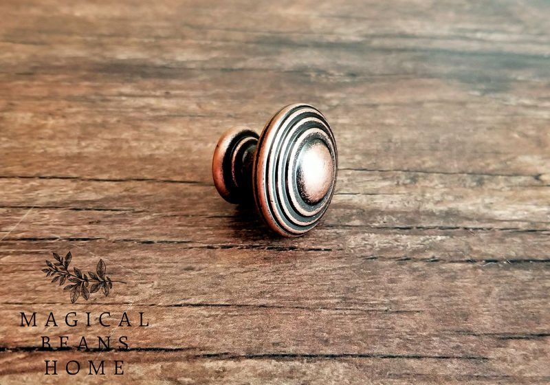 Weathered Copper Decorative Multi Ring Knobs  - product images  of