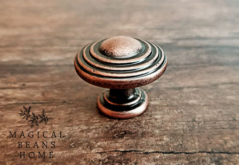 Weathered,Copper,Decorative,Multi,Ring,Knobs,Distressed Copper, Decorative Drawer Knobs, Copper Multi Ring Knobs, Weathered Copper Drawer Knobs, Industrial Farmhouse Decor, Country Farmhouse Furniture Knobs ,Rustic Cabinet Knobs, Copper Dresser Knobs ,Copper Dresser Hardware