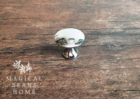 Vintage,Keeler,Brass,Co,Modern,Polished,Silver,Mushroom,Knobs,vintage drawer knobs, dresser hardware, silver drawer pulls, small mushroom knob, silver dresser knobs, shiny silver knob, modern drawer knobs, modern cabinet knobs
