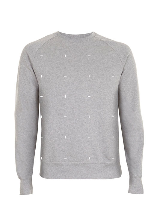 Blocks White Heather Gray  Sweatshirt - product image