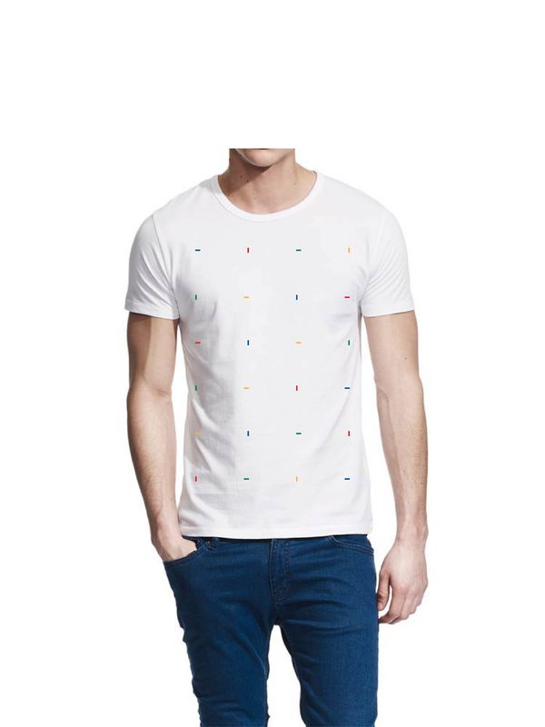 Blocks Colours White T-Shirt - product images  of